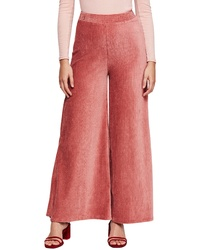 Pantalones anchos de pana rosa
