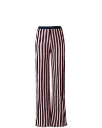 Pantalones anchos de rayas verticales azul marino de Aviu