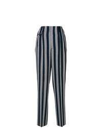 Pantalones anchos de rayas verticales azul marino de Golden Goose Deluxe Brand