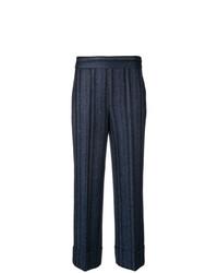Pantalones anchos de rayas verticales azul marino de Incotex