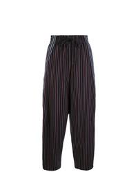 Pantalones anchos de rayas verticales azul marino de See by Chloe