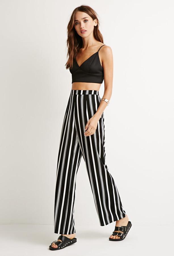 Resultado de imagen de pantalones blancos y negros de rayas