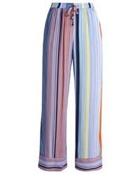 Pantalones Anchos de Rayas Verticales Celestes de Karen by Simonsen