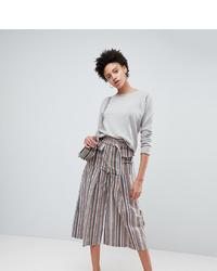 Pantalones anchos de rayas verticales en multicolor de ASOS DESIGN