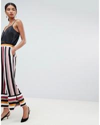 Pantalones anchos de rayas verticales en multicolor de Y.a.s