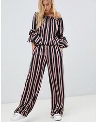 Pantalones anchos de rayas verticales negros de Vila