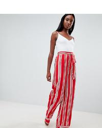 Pantalones anchos de rayas verticales rojos de Missguided Tall