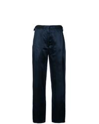 Pantalones anchos de seda azul marino de Derek Lam