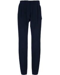 Pantalones anchos de seda azul marino de Dusan