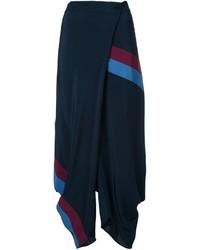 Pantalones anchos de seda azul marino de Stella McCartney