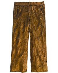 Pantalones anchos dorados