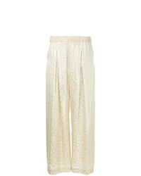 Pantalones anchos dorados de Layeur