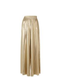 Pantalones anchos dorados de Norma Kamali