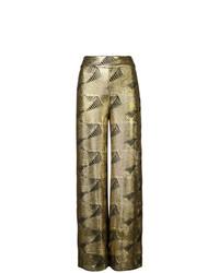 Pantalones anchos dorados de Sally Lapointe