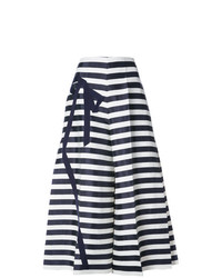 Pantalones anchos en azul marino y blanco de DELPOZO