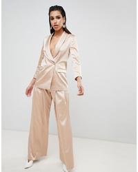 Pantalones anchos en beige de ASOS DESIGN