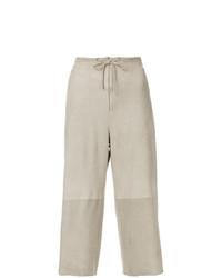 Pantalones anchos en beige de Salvatore Ferragamo Vintage