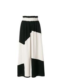 Pantalones anchos en negro y blanco de Henrik Vibskov