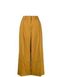 Pantalones anchos en tabaco de Marni