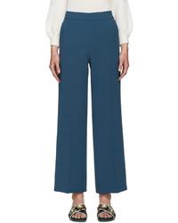 Pantalones anchos en verde azulado
