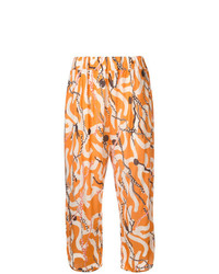 Pantalones anchos estampados naranjas de Henrik Vibskov