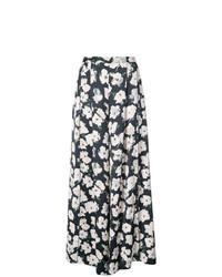Pantalones anchos estampados negros de Proenza Schouler