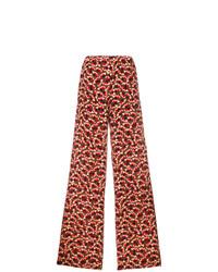 Pantalones anchos estampados rojos de Marni