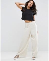 Pantalones anchos grises de Asos