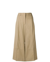 Pantalones anchos marrón claro de Marni