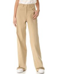 Pantalones anchos marrón claro de Sea
