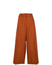 Pantalones anchos naranjas de Marni