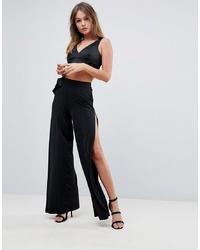 Pantalones anchos negros de ASOS DESIGN