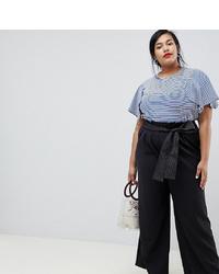 Pantalones anchos negros de Current Air Plus