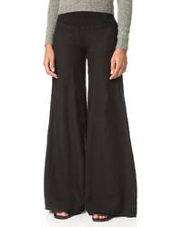 Pantalones anchos negros de Enza Costa