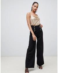 Pantalones anchos negros de Flounce London