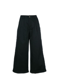 Pantalones anchos negros de Societe Anonyme