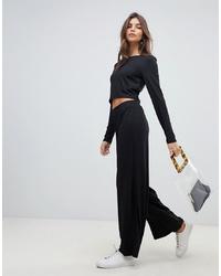Pantalones anchos negros de Vila