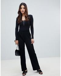 Pantalones anchos negros de Y.a.s