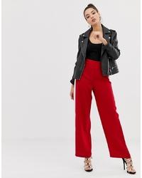 Pantalones anchos rojos de ASOS DESIGN