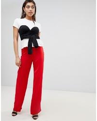 Pantalones anchos rojos de Ivyrevel