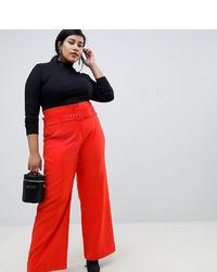 Pantalones anchos rojos de LOST INK PLUS