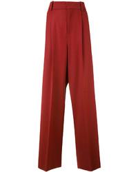 Pantalones anchos rojos de Marni