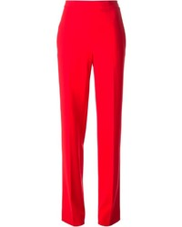 Pantalones anchos rojos de Moschino