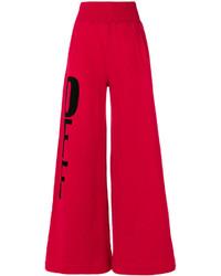 Pantalones anchos rojos de Off-White