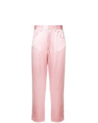 Pantalones anchos rosados de Fleur Du Mal