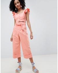Pantalones anchos rosados de LOST INK