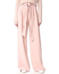 Pantalones anchos rosados de Milly
