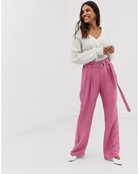 Pantalones anchos rosados de Vila