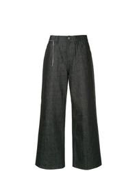 Pantalones anchos vaqueros azul marino de Marni
