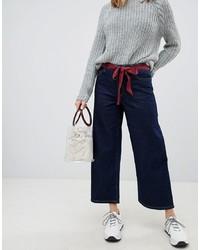 Pantalones anchos vaqueros azul marino de Only